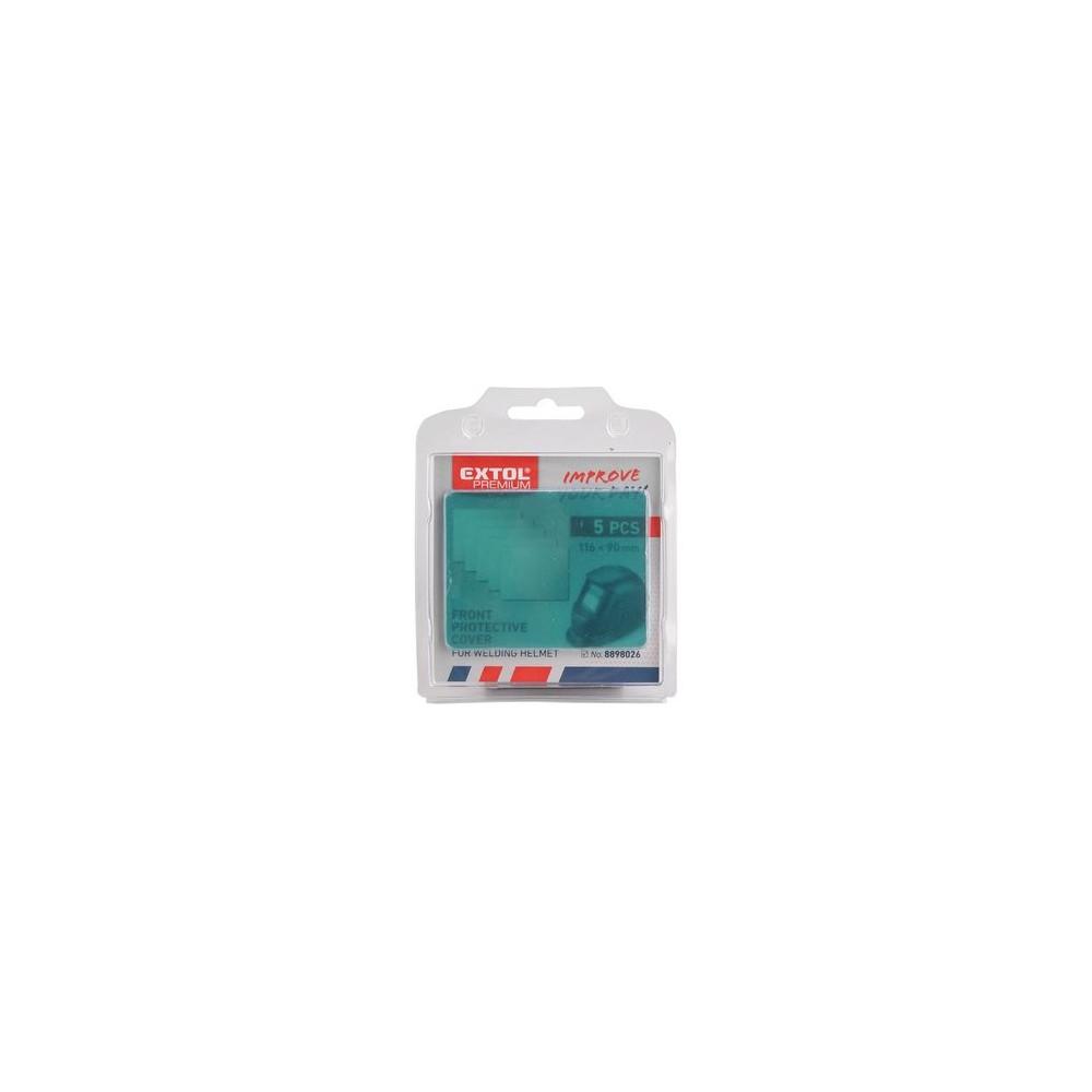 Plastový ochranný kryt pre zváraciu kuklu 5ks Extol Premium