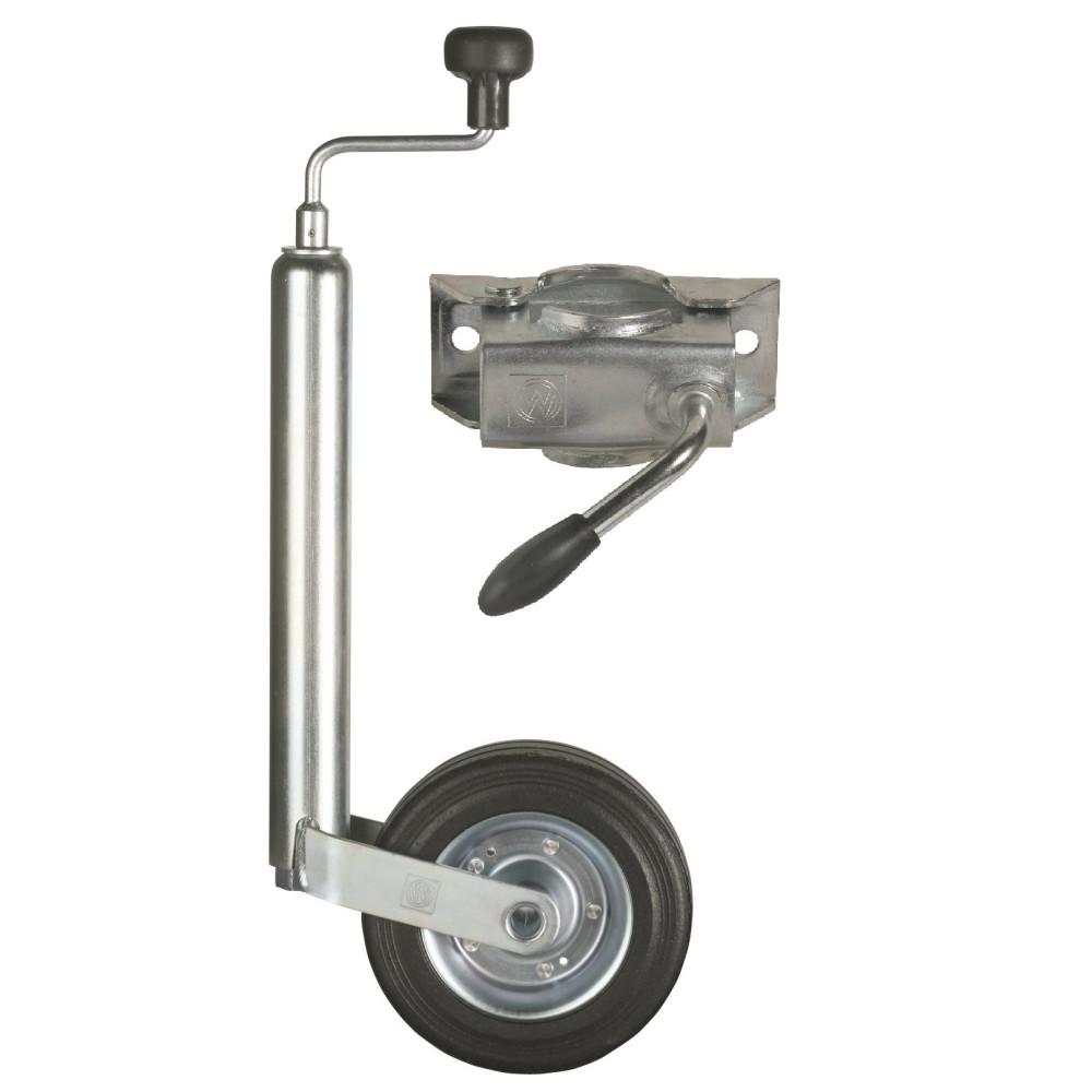 Oporné koliesko s držiakom na prívesný vozík - set