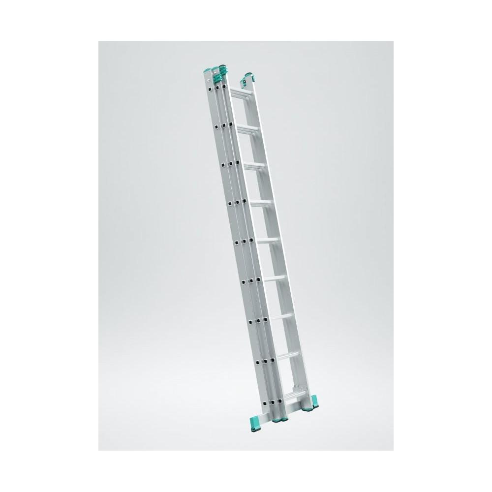 Trojdielny univerzálny rebrík Eurostyl 6-12 priečok