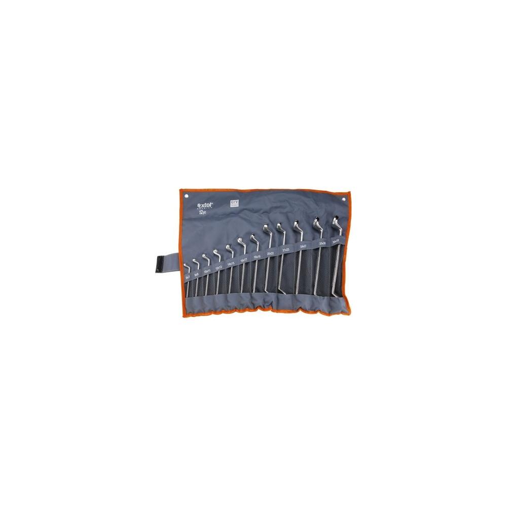 Kľúče očkové vyhnuté Cr-V, 12-dielna sada, 6-32mm Extol