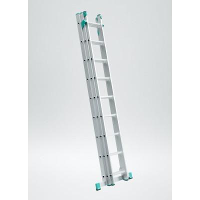 Trojdielny univerzálny rebrík s úpravou na schody Eurostyl 7-11 priečok