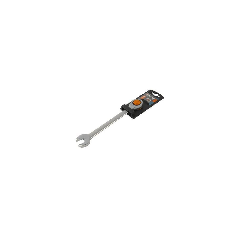 Kľúč očko-vidlicový, račňový, 45 zubov, Cr-V, 10mm, Extol