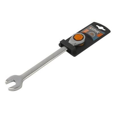 Kľúč očko-vidlicový, račňový, 45 zubov, Cr-V, 15mm, Extol