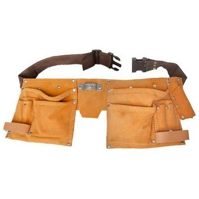 Dvojdielna kožená brašňa na náradie, 12 vreciek, s opaskom Extol Premium