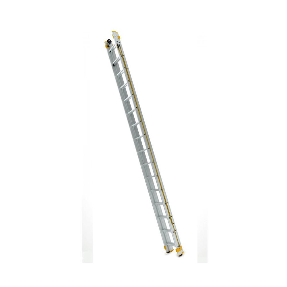 Dvojdielny výsuvný rebrík ovládaný lanom Eurostyl 14-16 priečok