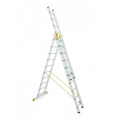 Trojdielny univerzálny rebrík Forte 8 - 15 priečok