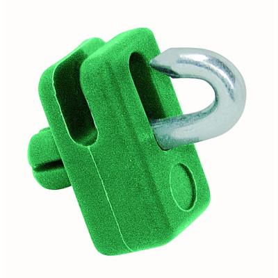 Príchytka na napínací drôt PVC zelená