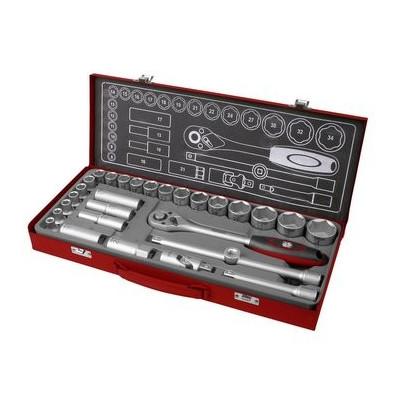 Kľúče nástrčné 1/2´ 8-34mm 29-dielna sada Fortum
