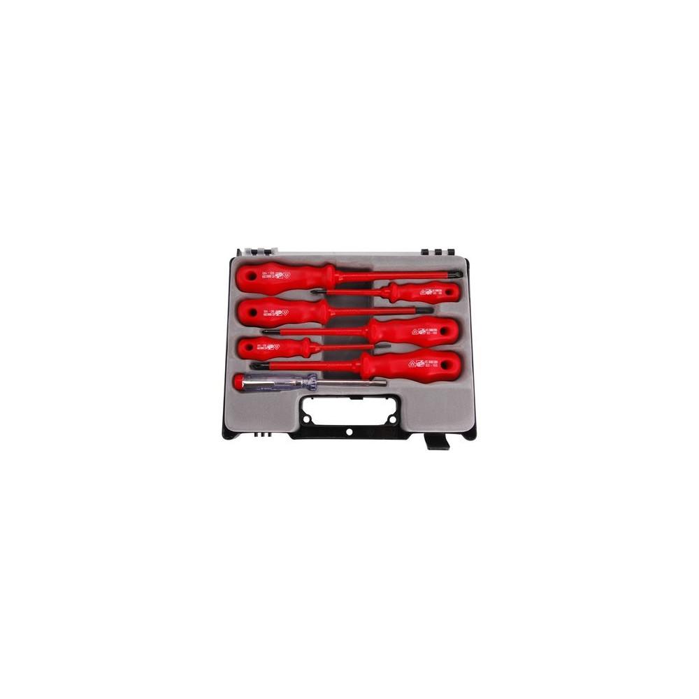 Skrutkovače elektrikárske 1000V, 7-dielna sada Extol Premium