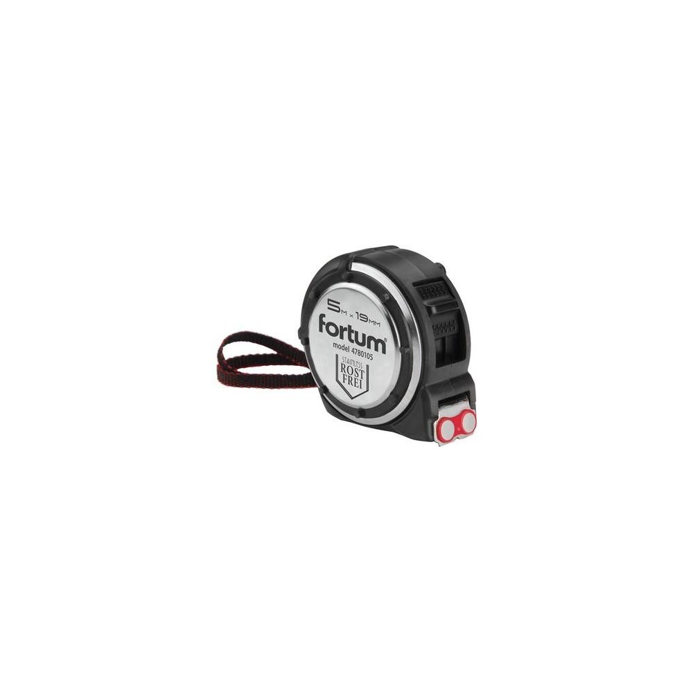 Meter zvinovací s magnetom 5mx19mm s brzdou, antikorový obal Fortum
