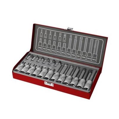 Kľúče zástrčné imbus, 2-14mm, 18-dielna sada Fortum