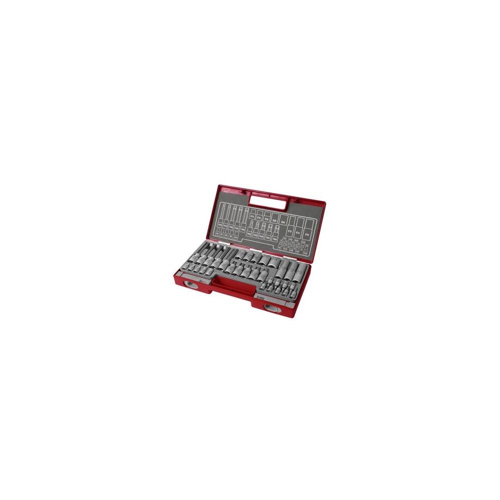 Kľúče zástrčné a nástrčné Torx, 32-dielna sada Fortum