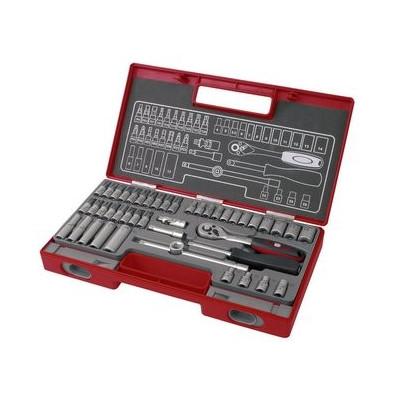 Kľúče nástrčné 1/4'' 4-14mm, 45-dielna sada Fortum