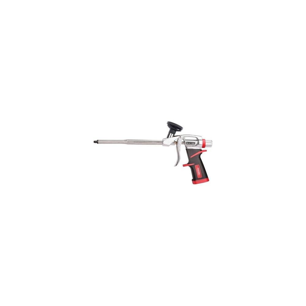Kovová pištoľ na aplikáciu PUR peny s pogumovanou rukoväťou Extol Premium