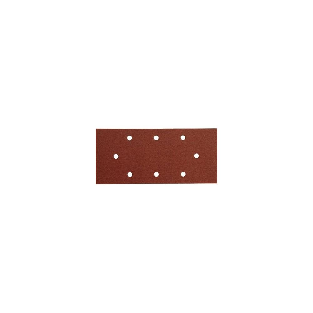 Brúsny papier na suchý zips 10ks, 8 otvorov, 93x190mm, P80