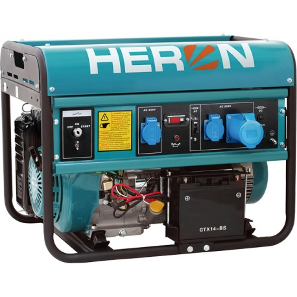 Elektrocentrála benzínová rámová EMG 68 AVR-1E HERON