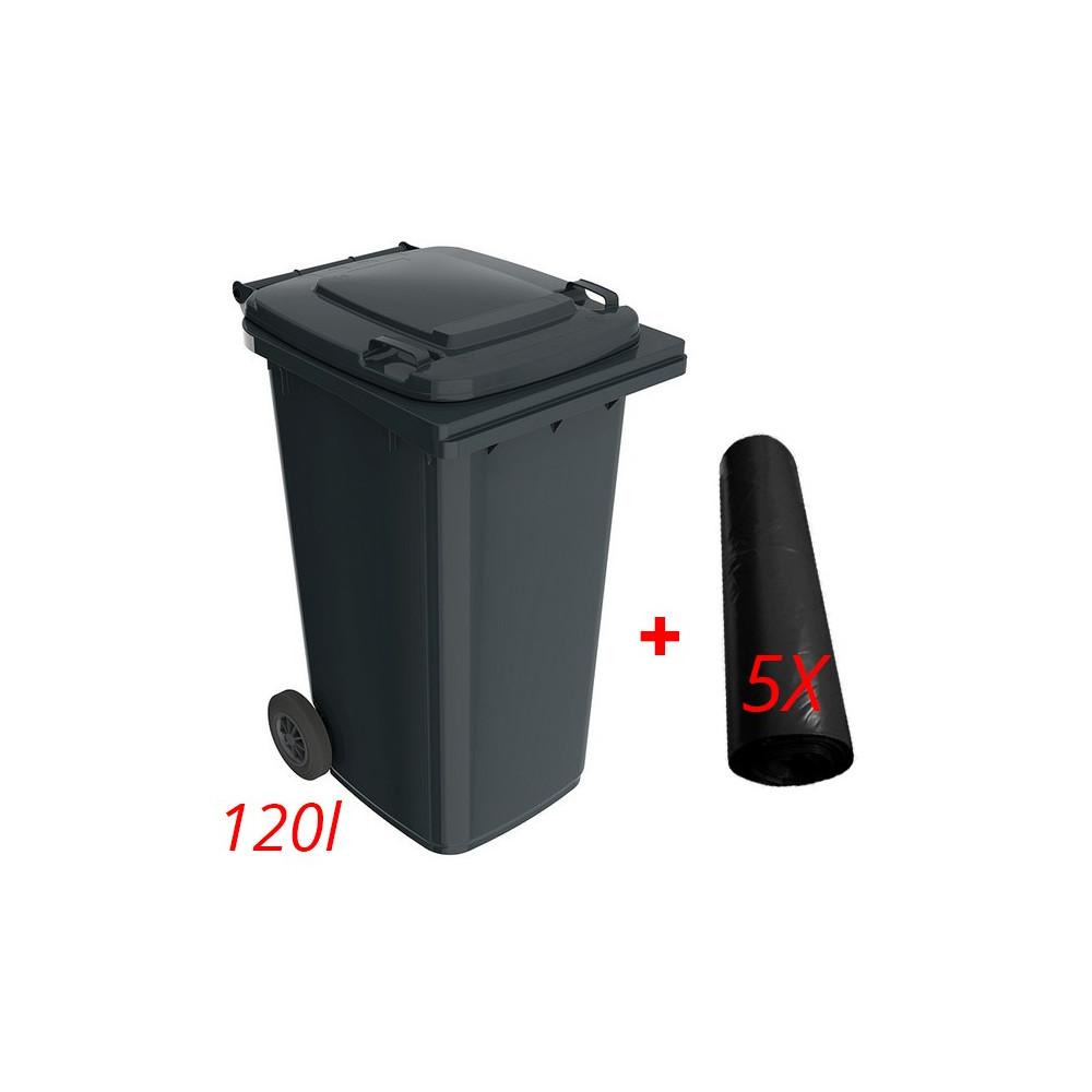 Akciový set plastový kontajner  + 5x25ks vrecia na odpadky