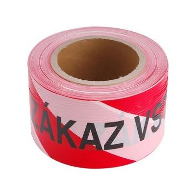 Páska ZÁKAZ VSTUPU červeno-biela